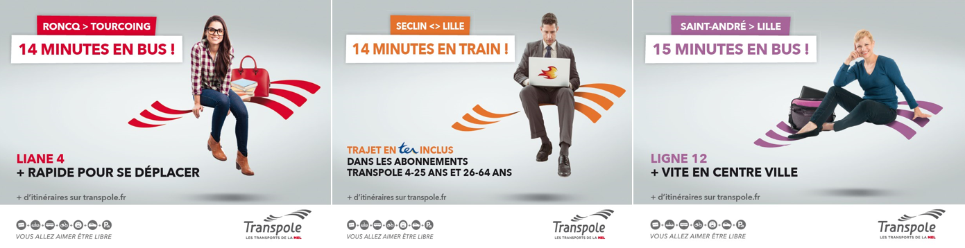 Transpole… à chaque type d'usager, une solution de transport adaptée !