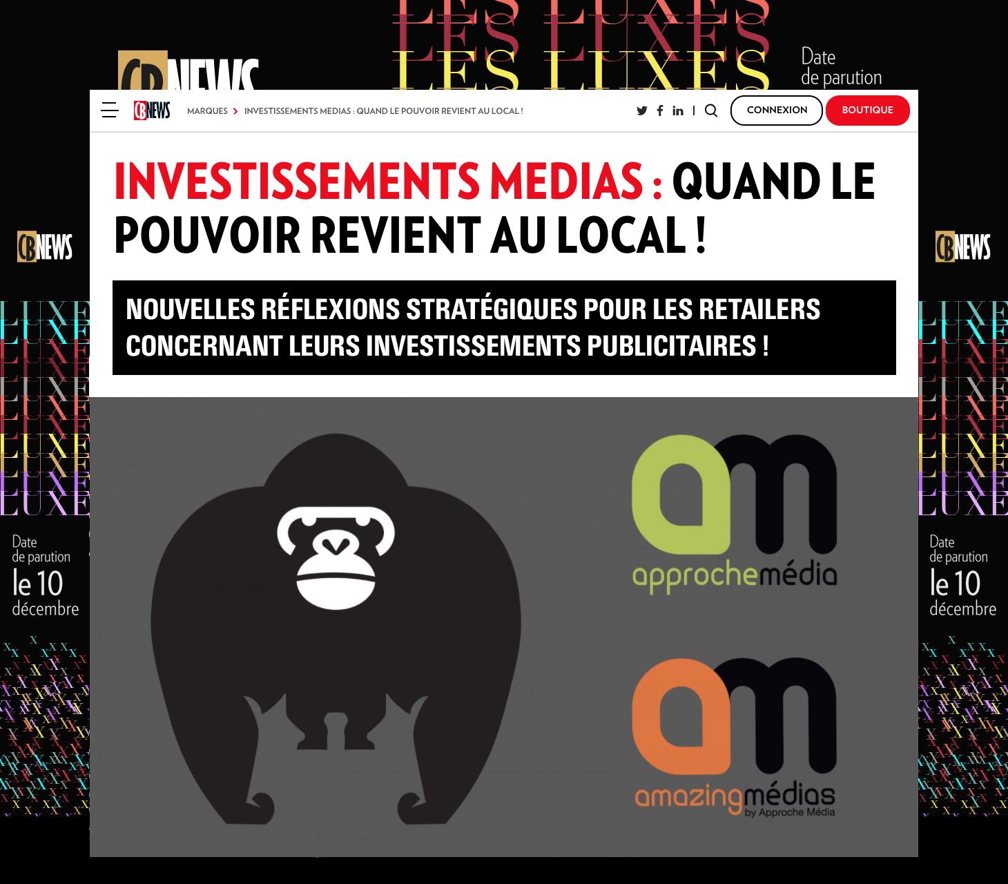 INVESTISSEMENTS MEDIAS:  QUAND LE POUVOIR REVIENT AU LOCAL!